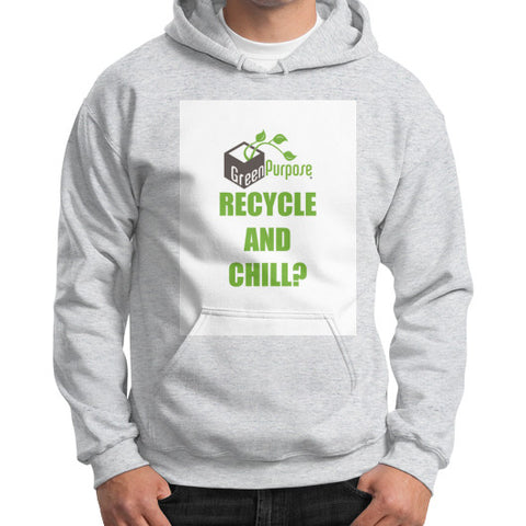 Gildan Hoodie (on man) - My Green Purpose