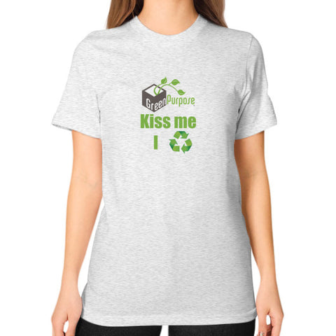 Unisex T-Shirt (on woman) - My Green Purpose