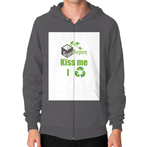 Zip Hoodie (on man) - My Green Purpose