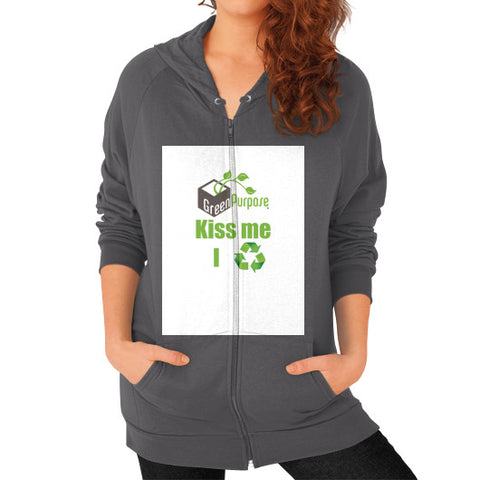 Zip Hoodie (on woman) - My Green Purpose