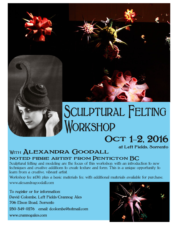 Sculptural Felting Workshop - October 1-2