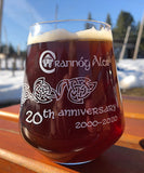 20th anniversary glass