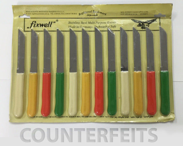 Make sure to buy Authentic Fixwell Knives and beware of counterfeits