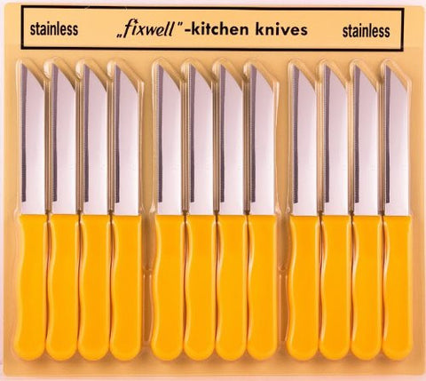 Fixwell Knives 12-pack Basic Yellow