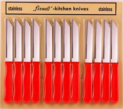 Fixwell Knives 12-pack Basic Red/Orange
