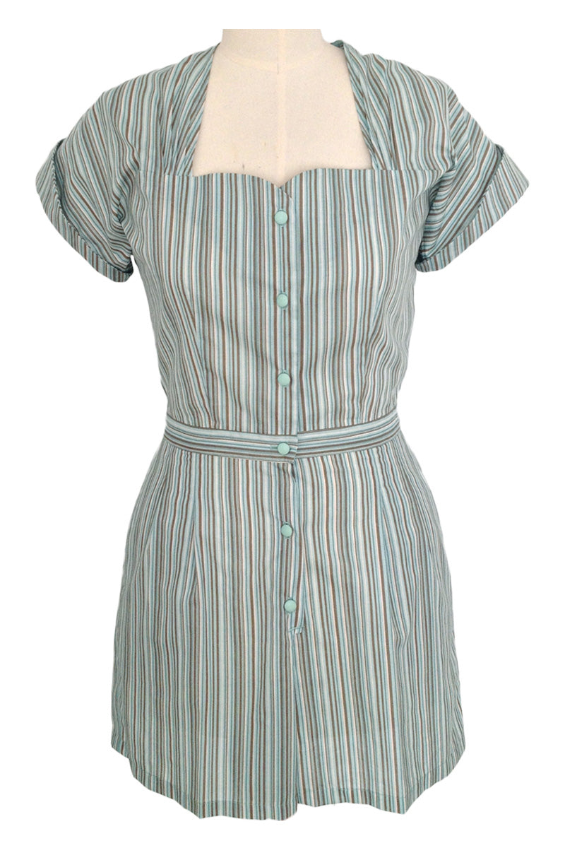 1940s Playsuit Mint (Romper + Skirt)