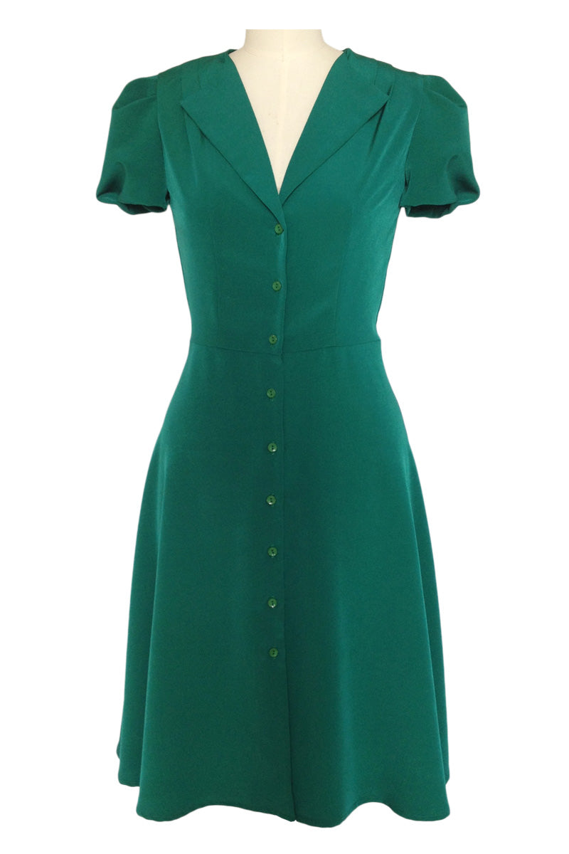1940s Tea Dress Green