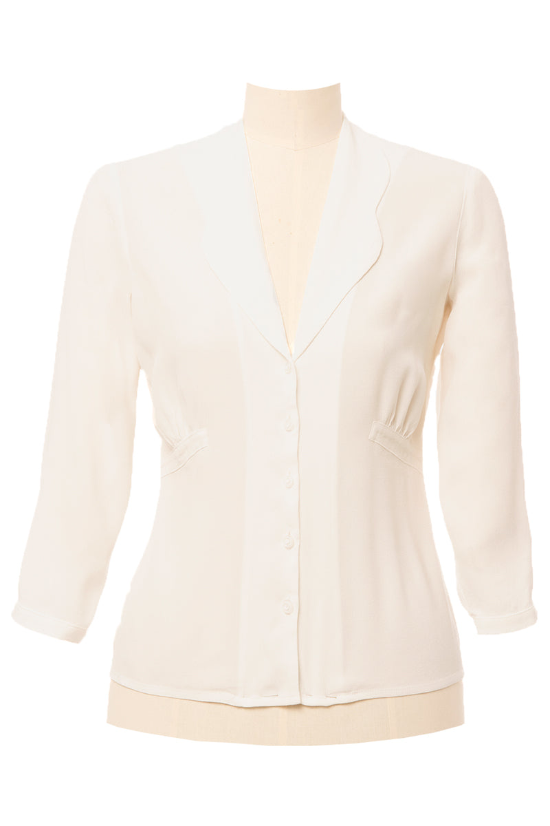 Balboa 40s Blouse White