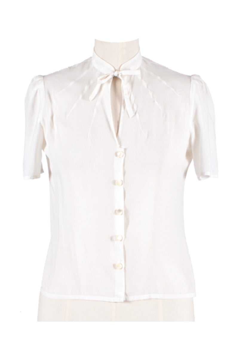 Berlin 40s Blouse White