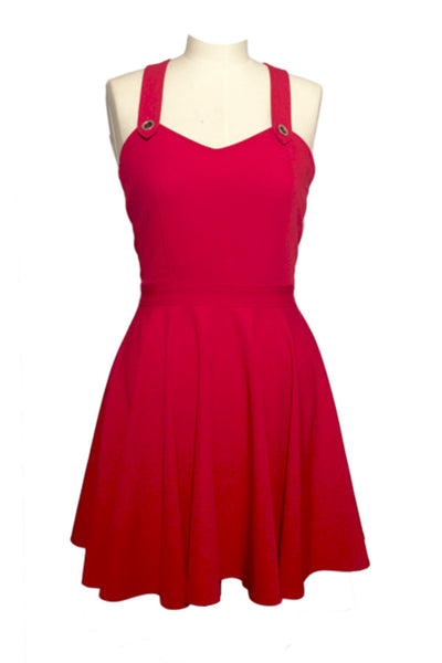 Dungaree Dress Red