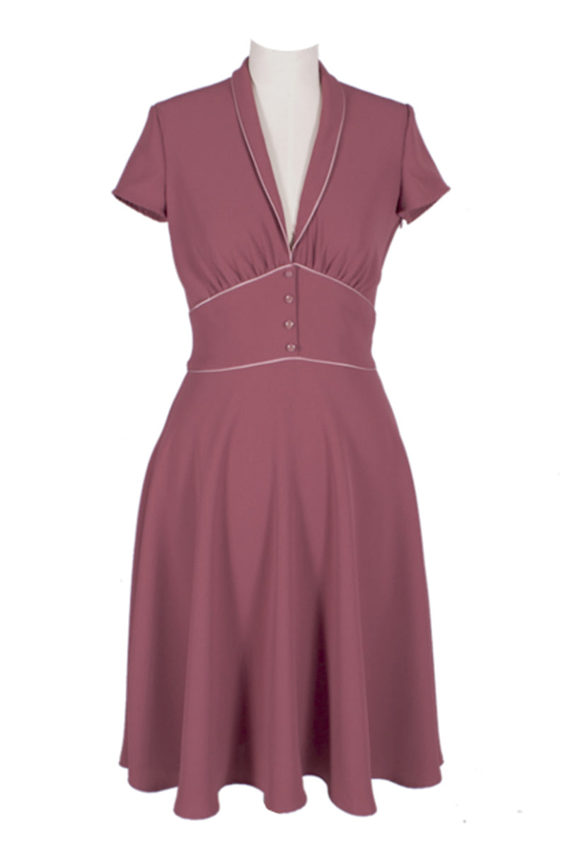 Ginger Dress Pale Burgundy