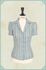 1940s Blouses and Tops Willa Blouse Green €78.00 AT vintagedancer.com