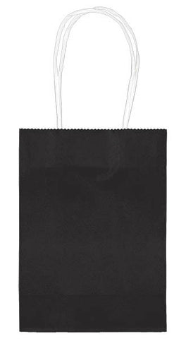 Kraft Bag Black w/Handle 5""
