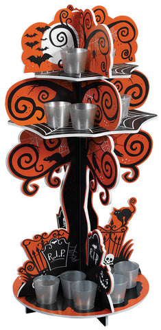 Shot Glass Holder Spooky Tree