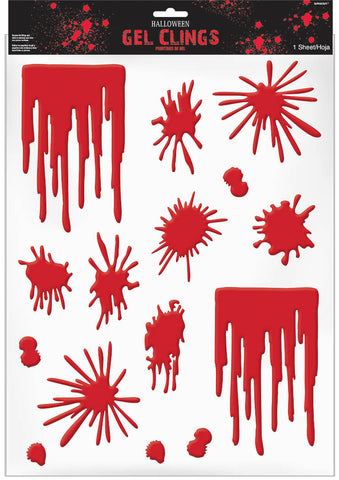 Cling Gel Asylum Blood Splats & Drips