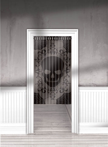 Curtain Lace Door Skull