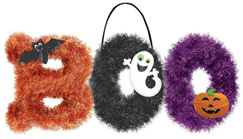 Boo Tinsel Decor