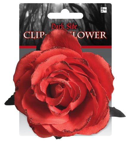 Clip On Flower Red