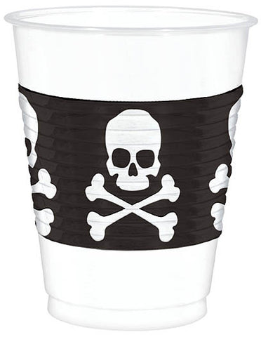 Cups 16 Oz Skull & Crossbones 25CT