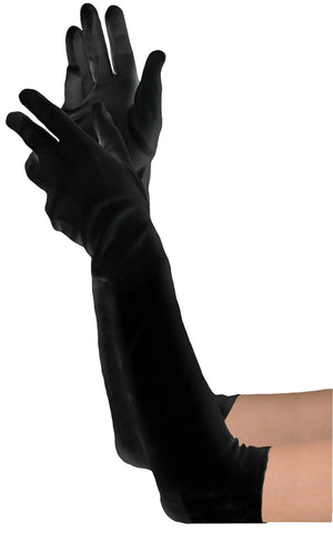 Extra Long Black Glove Women
