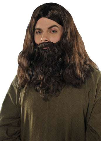 Wig and Beard Set Brown