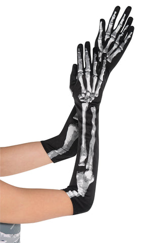 Gloves Skeleton Long