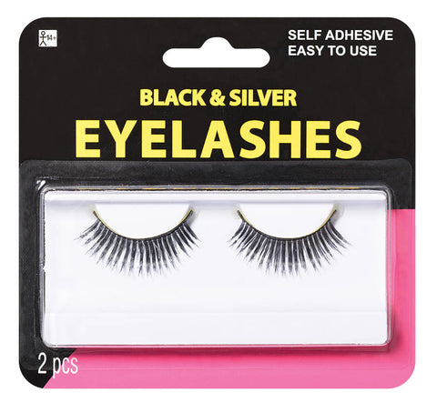 Eyelashes Black & Silver