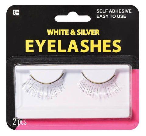 Eyelashes White & Silver
