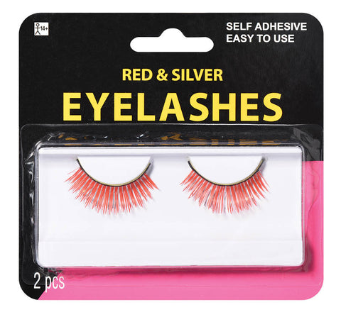 Eyelashes Red & Silver