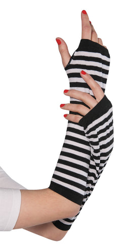 Striped Arm Warmer BLK/WHT
