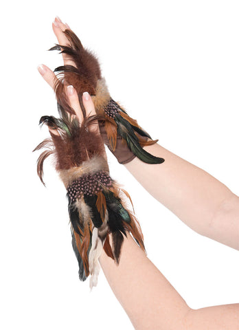 Gloves Owl Feather