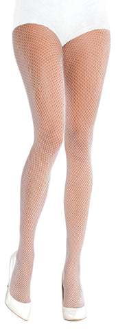 Fishnet Stockings White Plus