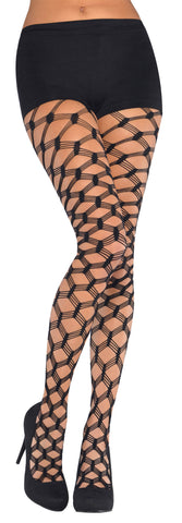Net Stockings Bold Diamond Black STD