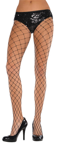 Net Stockings Big Diamond Black