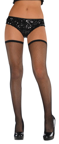 Thigh High Fishnet Black STD
