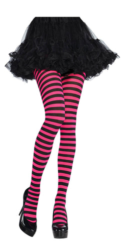 Tights Pink/Black Striped STD