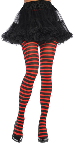 Tights Red/Black Striped STD