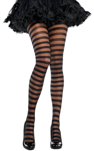 Tights Sheer Black Striped STD