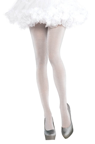 Tights Shimmer White STD