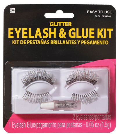 Eyelash Silver Glitter Glue Kit