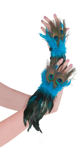 Gloves Peacock Feather