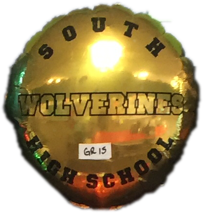 "18"" Mylar South High School #GR15 (Empty)"