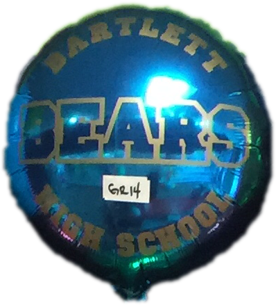 "18"" Mylar Bartlett High School #GR14 (Empty)"
