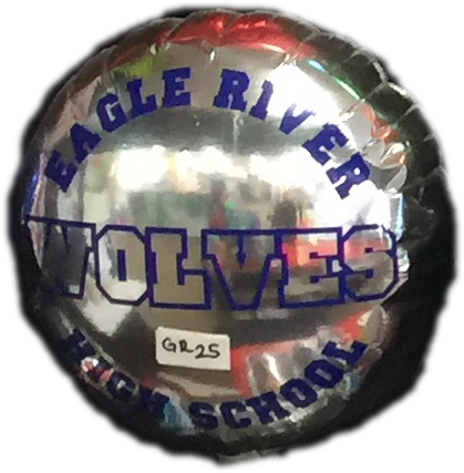 "18"" Mylar Eagle River High School #GR25 (Empty)"