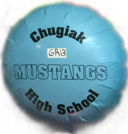 "18"" Mylar Chugiak High School #GR13 (Empty)"