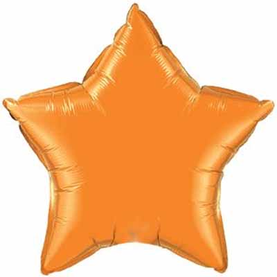 "18"" Mylar Star Orange (Empty) #025"