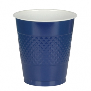 Cup Plastic 12oz Navy Flag