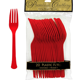 Fork 20ct Apple Red