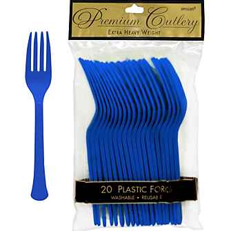 Fork 20ct Bright Royal Blue