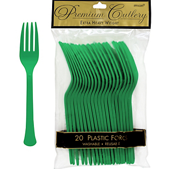 Fork 20ct Festive Green
